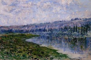 Claude Monet - The Seine and the Chaantemesle Hills