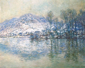Claude Monet - The Seine at Port Villez, Snow Effect