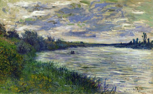 Claude Monet - The Seine near Vetheuil, Stormy Weather