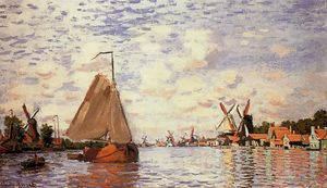 Claude Monet - The Zaan at Zaandam