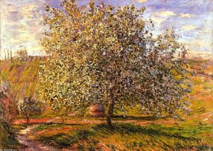 Claude Monet - Tree in Flower near Vetheuil