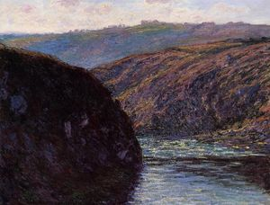 Claude Monet - Valley of the Creuse, Afternoon Sunlight