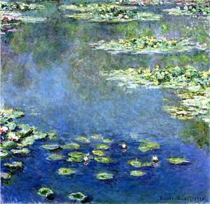 Claude Monet - Water Lilies - (Famous paintings)