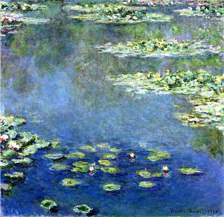 Order Print On Canvas Water Lilies, 1906 by Claude Monet (1840-1926, France) | WahooArt.com | Order Poster On Canvas Water Lilies, 1906 by Claude Monet (1840-1926, France) | WahooArt.com