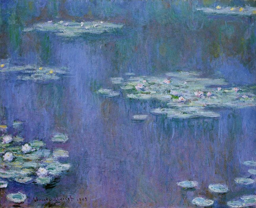 Water-Lilies 13, Oil by Claude Monet (1840-1926, France)