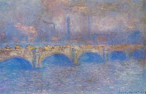 Claude Monet - Waterloo Bridge, Sunlight Effect