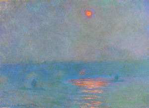 Claude Monet - Waterloo Bridge, Sunlight in the Fog