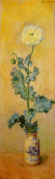White Poppy, Oil On Canvas by Claude Monet (1840-1926, France)