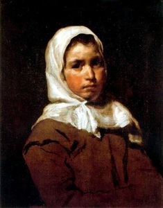 Diego Velazquez - A young peasant girl