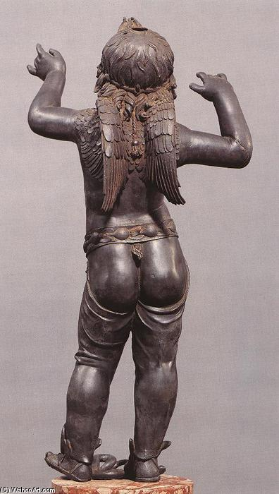 Allegoric Figure of a Boy (Atys), rear view, 1430 by Donatello (1386-1466, Italy) | WahooArt.com