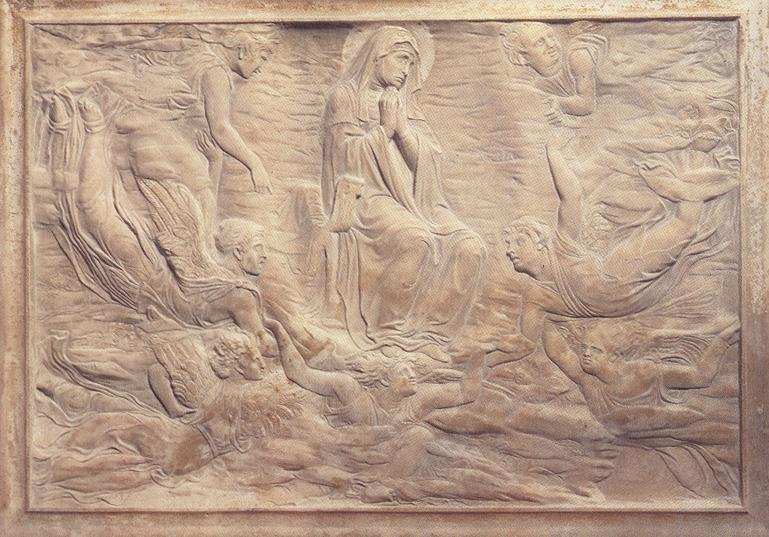 Assumption of the Virgin (detail of the Brancacci tomb), Relief by Donatello (1386-1466, Italy)