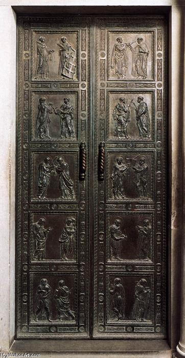 Door with the representation of Martyrs, Bronze by Donatello (1386-1466, Italy)