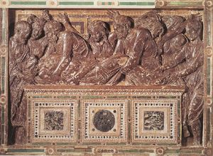 Order Famous Paintings Reproductions : Entombment 1 by Donatello (1386-1466, Italy) | WahooArt.com