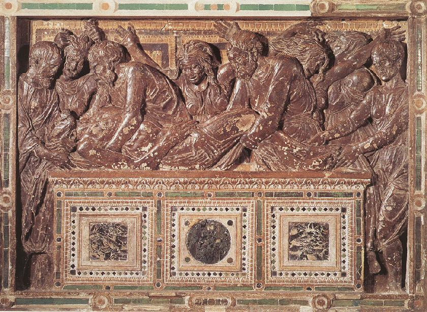 Entombment 1, Relief by Donatello (1386-1466, Italy)