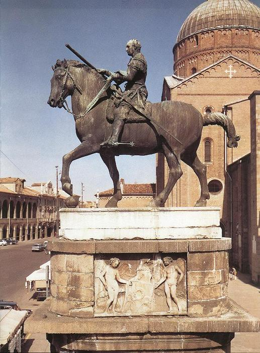 Equestrian Statue of Gattamelata, Sculpture by Donatello (1386-1466, Italy)