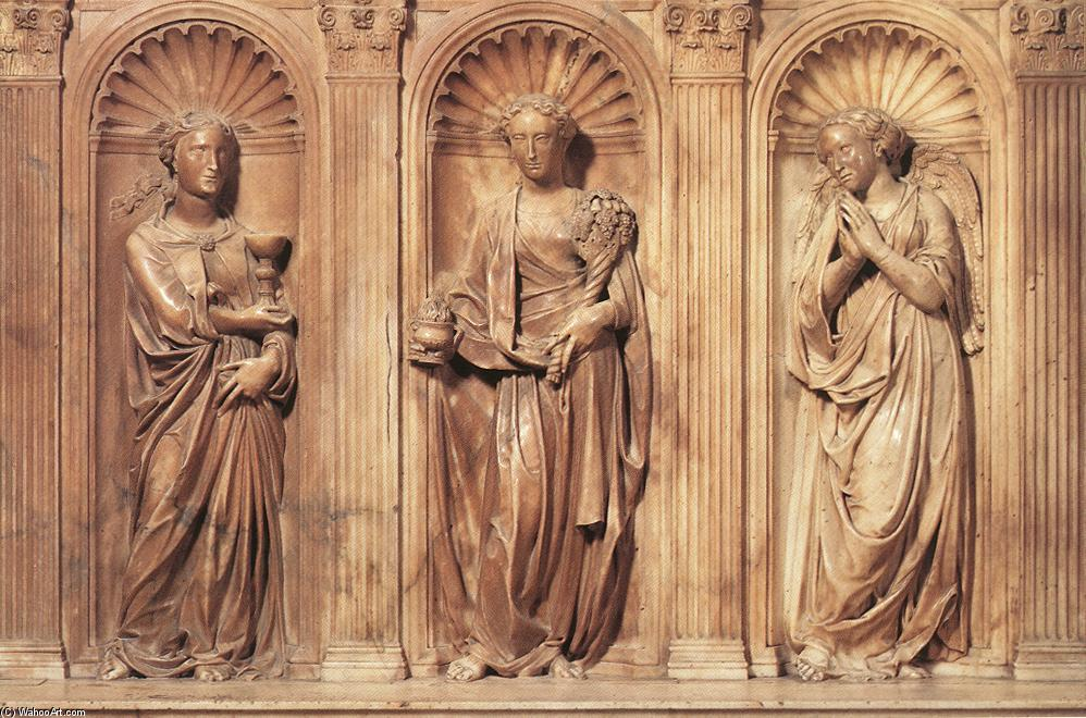 Funeral Monument to John XXIII (detail), 1435 by Donatello (1386-1466, Italy) | WahooArt.com