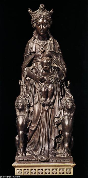 Madonna with the Child, Bronze by Donatello (1386-1466, Italy)