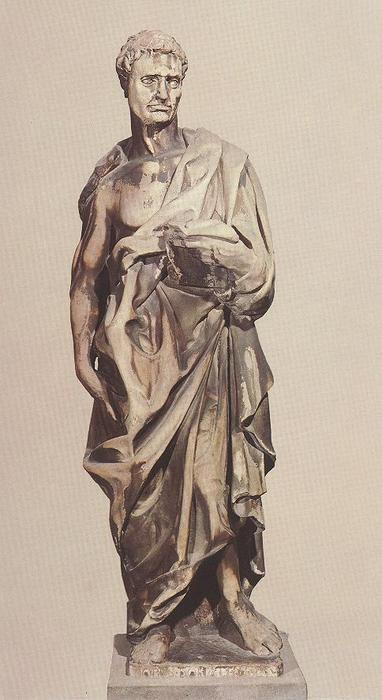 Prophet Jeremiah, Sculpture by Donatello (1386-1466, Italy)