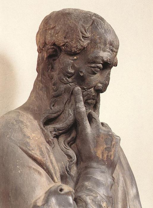Prophet with Scroll by Donatello (1386-1466, Italy) | Painting Copy | WahooArt.com