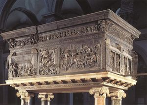 Donatello - Pulpit on the right