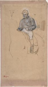 Edgar Degas - A Jockey on His Horse