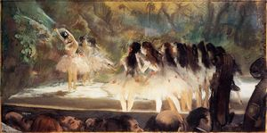 Edgar Degas - Ballet at the Paris Opers