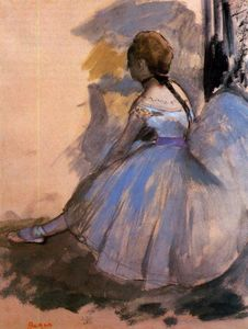 Edgar Degas - Dancer Seated (study)