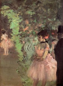 Edgar Degas - Dancers Backstage