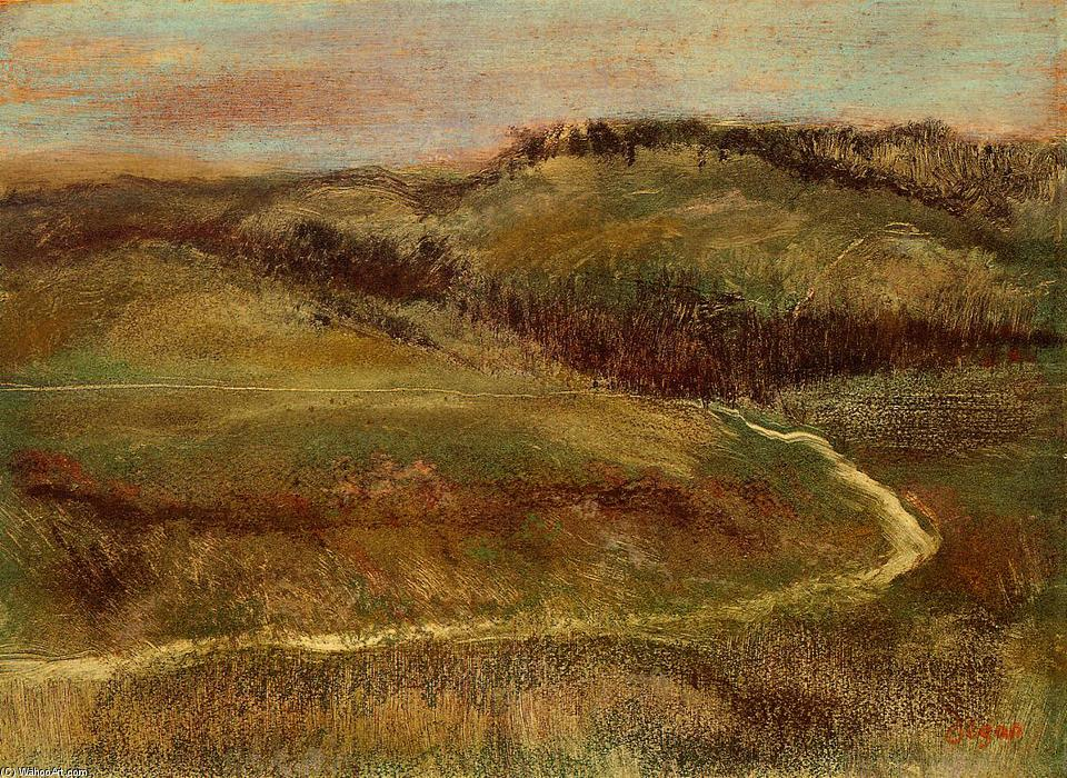 Landscape 1 by Edgar Degas (1834-1917, France) | Oil Painting | WahooArt.com