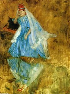 Edgar Degas - Mademoiselle Fiocre in the Ballet The Source-- (study)--