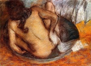 Edgar Degas - Nude in a Tub