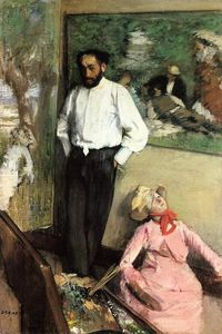 Edgar Degas - Portrait of Henri Michel-Levy