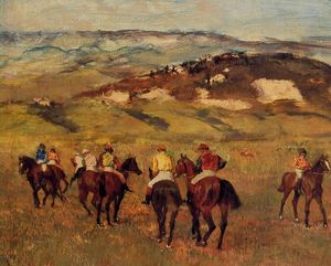 Order Famous Paintings Reproductions : Racehorses, 1884 by Edgar Degas (1834-1917, France) | WahooArt.com