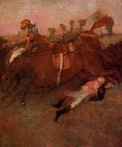 Edgar Degas - Scene from the Steeplechase - the Fallen Jockey
