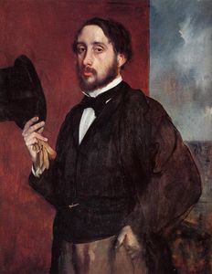 Edgar Degas - Self Portrait Saluting