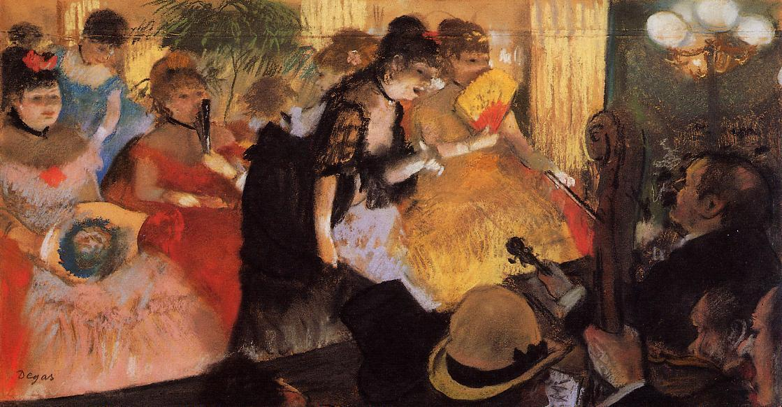 The Cafe Concert, 1877 by Edgar Degas (1834-1917, France) | Reproductions Edgar Degas | WahooArt.com