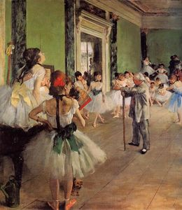 Edgar Degas - The Dance Class - (Buy fine Art Reproductions)