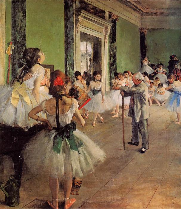 The Dance Class, 1873 by Edgar Degas (1834-1917, France) | Painting Copy | WahooArt.com
