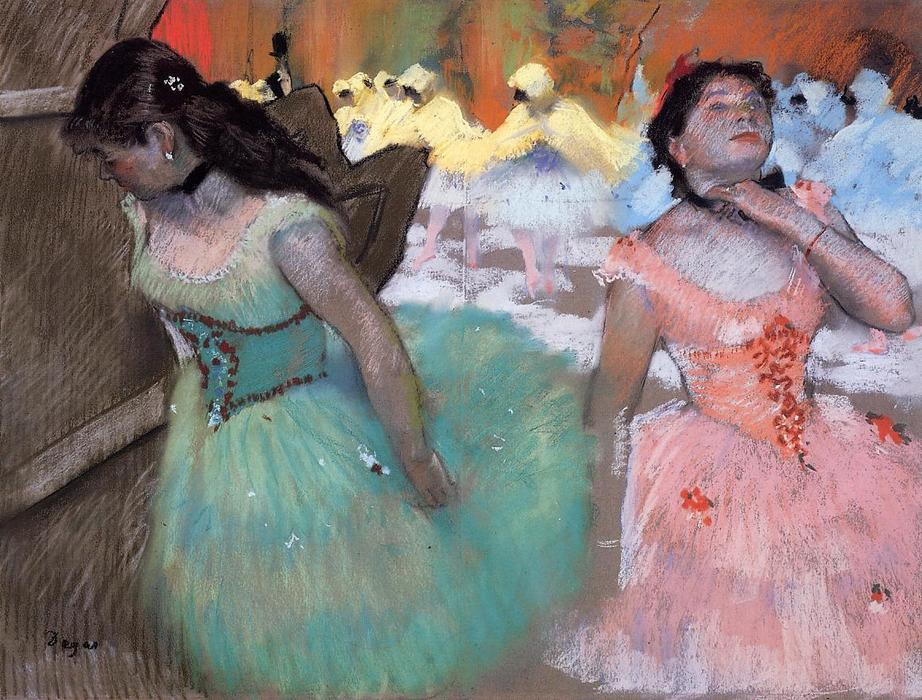 The Entrance of the Masked Dancers, Pastel by Edgar Degas (1834-1917, France)