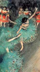 Edgar Degas - The Green Dancer