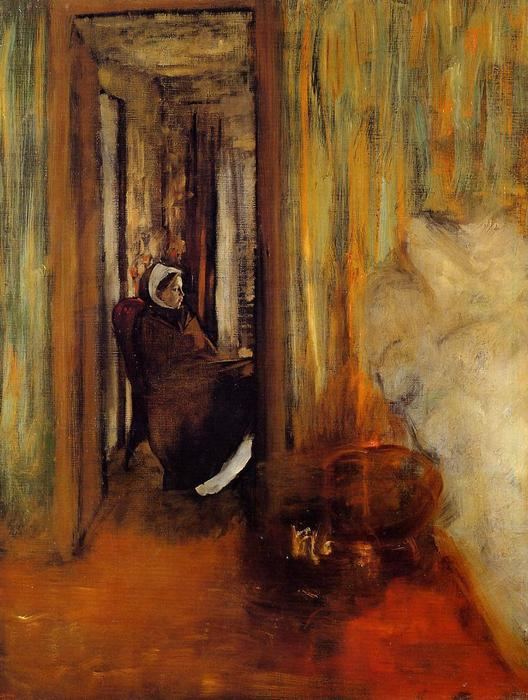 Nurse, Oil On Canvas by Edgar Degas (1834-1917, France)