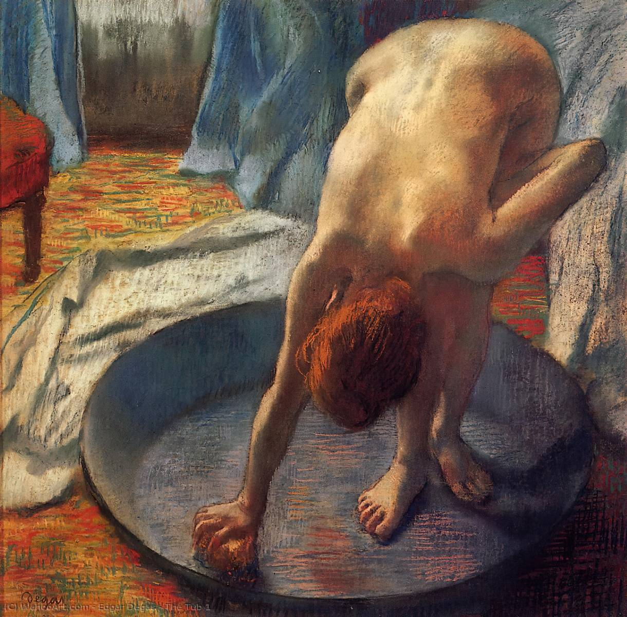 The Tub 1, 1886 by Edgar Degas (1834-1917, France) | Art Reproduction | WahooArt.com