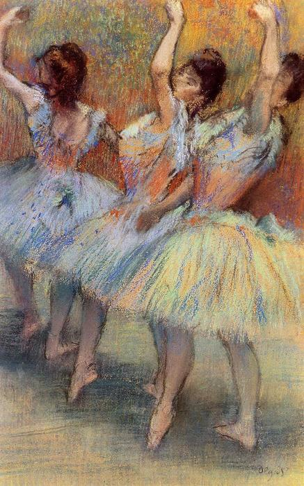 Three Dancers 3, Drawing by Edgar Degas (1834-1917, France)