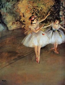 Edgar Degas - Two Dancers on Stage