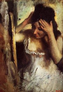 Edgar Degas - Woman Combing Her Hair before a Mirror