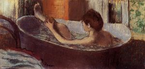 Edgar Degas - Woman in a Bath Sponging Her Leg