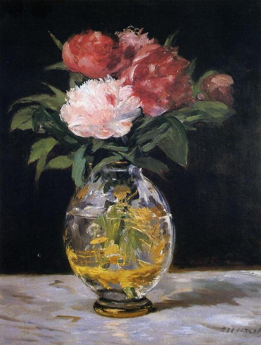 Bouquet of flowers, Oil On Canvas by Edouard Manet (1832-1883, France)