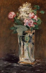 Edouard Manet - Flowers in a Crystal Vase