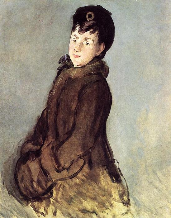 Isabelle Lemonnier with Muff, 1879 by Edouard Manet (1832-1883, France) | WahooArt.com