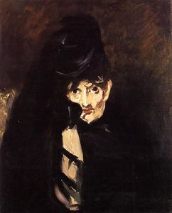 Edouard Manet - Portrait of Berthe Morisot with Hat, in Mourning